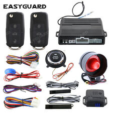 Easyguard PKE car alarm system push button remote engine auto start shock sensor