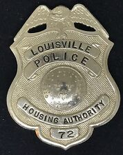 VINTAGE OBSOLETE LOUISVILLE POLICE HOUSING AUTHORITY 72 Collector's Police Badge