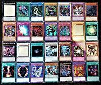 50 Bulk YuGiOh Card Lot 10 + Holos 8+ Rares Genuine Konami