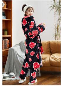 00Anime Akatsuki Cloud Sleep Robe Pants Set Sleepwear Bathrobe Nightwear Pajamas