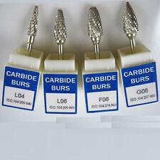 4*Dental Tungsten Carbide Burs 2.35mm for Marathon Polisher Micromotore manipolo