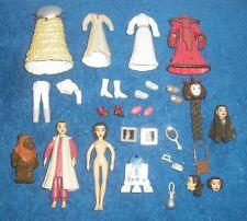Disney Park Princess Leia Polly Pocket Lot STAR WARS & RARE Ewok WICKET Figure