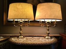 Pair Of Vintage Brass Bouillotte Table Lamps