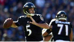 Nike Men's NFL Baltimore Revens Joe Flacco Jersey Black 479408 013 Size L