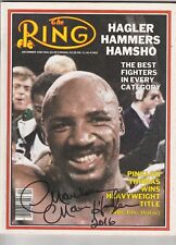 THE RING MAGAZINE MARVELOUS MARVIN HAGLER AUTOGRAPHED COVER DECEMBER 1984