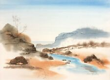 "Carl Martin ""Stream to The Ocean"" original watercolor painting on Arches"