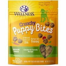 Wellness Natural Grain Puppy Training Treats 6oz Crunchy Chicken & Carrots