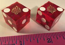 EL DORADO CASINO DICE 2 RED DICE WITH LOGO RENO NEVADA DICE USED ON CASINO FLOOR