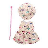 Cute Printed Princess Dress Hat Belt Clothes for AG American Doll Doll Outfits
