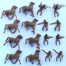 TimMee Processed Plastic 16 Tim Mee Cowboys Indians Davy Crockett and Horses