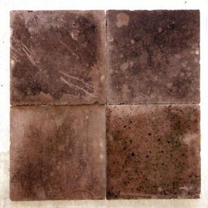 36 m²/ 145 Stk. Bodenplatten roter Sandstein, 50x50cm
