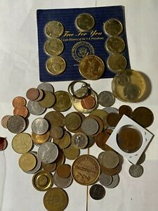 COOL BEANS BLOWOUT: Nice Lot of Tokens, Foreign Coins and US Silver 01-186