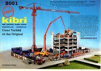 Feuillet Nouveauté Kibri 2001 - échelle Ho Gamme Bâtiments et accessoires