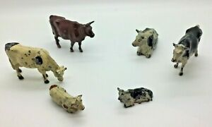 Vintage Lead Britains and Hill & Co Farm Animals Cows & Calves