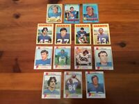 Lot of 14 Trading Cards -  1970-73 Topps FOOTBALL New York Giants (NFC) Various