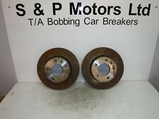 Vauxhall Front Brake Discs Vented Pair Genuine GM 90271134
