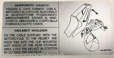DUCATI 748 916 Biposto Calcomanía de advertencia de precaución titular de casco de asiento