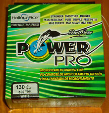 Power Pro Hollow Ace 130# X 500 yd. Braided Spectra White
