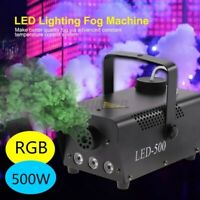 500W Smoke Fog Machine RGB Muti Color LED DJ Party Wedding Stage Light