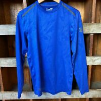 Under Armour Blue Cold Gear Long Sleeve Top   S
