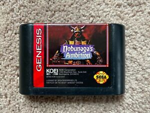 Nobunaga's Ambition (Sega Genesis, 1993) CART ONLY, 100% Authentic, FREE SHIP