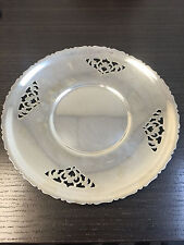 "Vintage 9""  E.P Copper Made In Canada Round Silver Plate Dish"