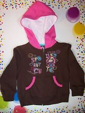 Bobby Jack Hoodie Sweatshirt Jacket Outerwear Girls Small Brown Spoiled NWT
