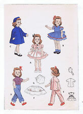 """7155 Vintage Chubby Doll Pattern - Size 19"""" - Year 1950"""