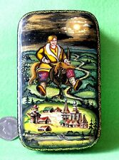 Russian Hand painted LACQUER FEDOSKINO Box Fairy tale Humpbacked Horse signed