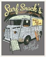 "retro camper vintage poster print Surf Snacks surfing 36"" x 24"""