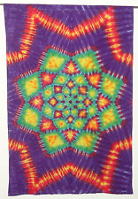 Hippie Tie dye dyed tapestry sheet curtain wall hanging 41.5*62 Lotus Blossom