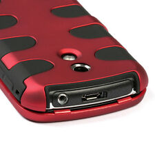For Samsung Epic 4G Rubberized Hybrid FISHBONE Silicone Case Cover Red Black