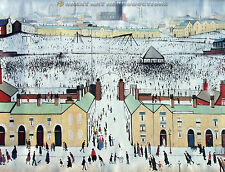 """Britain at Play"", L.S. Lowry, Reproduction in Oil, 44""x34"""