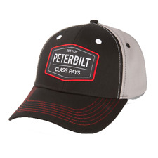 Peterbilt Motors Cap - PB Patch Class Pays Trucker Hat - Black / Grey