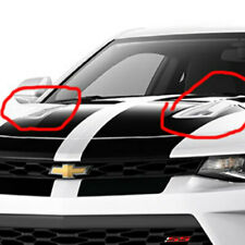 2016-2018 Chevrolet Camaro Hood Scoop Vents New OEM Pair Summit White 23408564