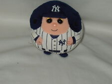 "TY BEANIE BALLZ 5"" MLB New York Yankees ROOKIE stuffed bean bag toy 2013"