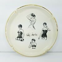 Rare Jack Nadel Advertising Ashtray Featuring Lady Marlene Lingerie On 4 Models
