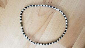 "HEMATITE STONE Necklace 14"" Long, HAND CRAFTED in USA -"