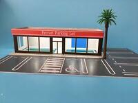 Parking lot Model 1:64 Scale ADVAN 4S Shop Building Model w/10 Parking Space US
