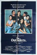 Outsiders Patrick Swayze Tom Cruise Original Cinema Release 1S Movie Poster New!