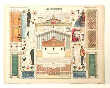 Pellerin Imagerie D'Epinal-No 514 Les Musiciens Grande Constructions paper model