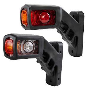 2X  Side Marker Lights Stalk Outline Lamp Indicator Led For Trailer Truck Lorry