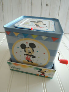Mickey Mouse Jack in the Box NIB Blue 2014