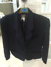 Used Kenzo Paris Ladies Navy Blue classic 100% Wool Blazer Size 40 43aae50bda8