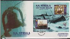 GB - ALDERNEY 1999 Cent of the Wreak of Mail Steamer Stella SG MSA124a FDC SHIPS