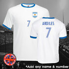 Argentina Ardiles Football Soccer Ringer Retro T-shirt World Cup Gift