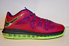 $165 NIKE AIR MAX LEBRON X 10 LOW RASPBERRY LIME GREEN 10.5 579765-601 DUNKMAN