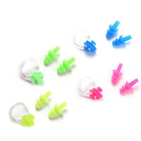 1 Set Random Diving Swimming Waterproof Silicone Soft Swim Nose Clip Ear Plugs