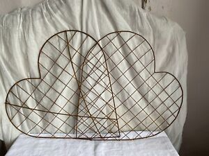 Vintage Metal Heart Summer Wedding & Mother's Day Decor Rustic Wedding Props 1pc