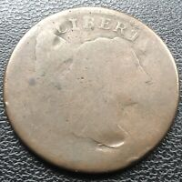 1795 Large Cent Liberty Cap Flowing Hair One Cent Circulated #18458